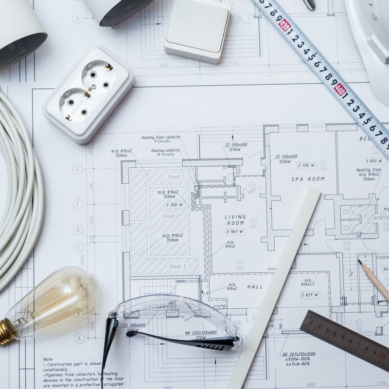Electrical Master Equipment On House Plans.